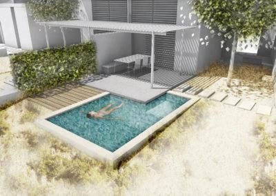 Συγκρότημα Ισόγειων Κατοικιών με κολυμβητική δεξαμενή